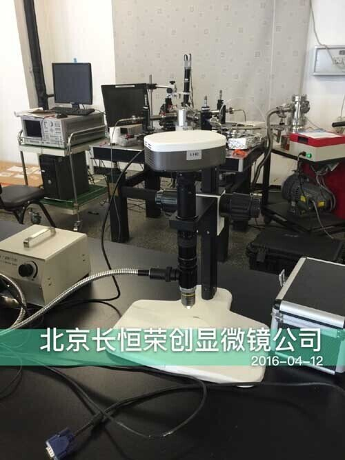 2016年4月中科院物理所采购我公司单筒视频显微镜!